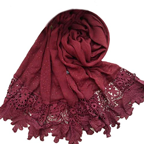 Solid color Fashion Scarf Chiffon Long Hijabs (Grey) - 2
