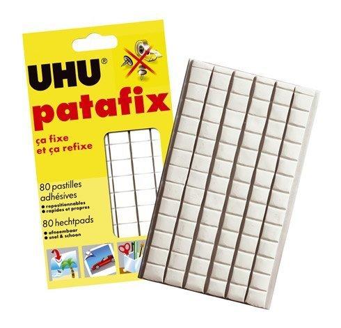 UHU Patafix 80 Glue Pads Sticks Again & Again Repositionable, Quick & Clean by Uhu Thailand HH010