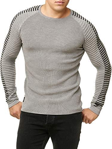 Nervuré Gris Basic Sweater Hommes Pull Manche Longue Red Bridge Effets En Tricot 1BPPRx