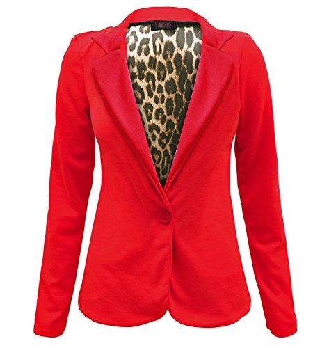 Envy Boutique–mujer un botón frontal Animal forro estampado rayas talla perchero de pared de Blazer chaqueta 8–�?4 Rosso