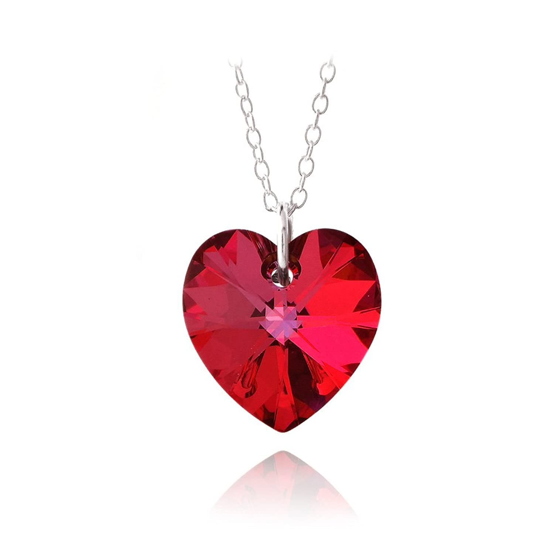 pendentif rouge swarovski  u2013 bijoux  u00e0 la mode