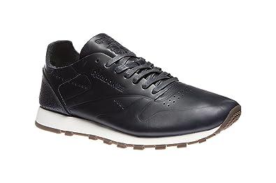 Reebok Classic Leather Clean DU Herren Echtleder-Sneaker Schwarz