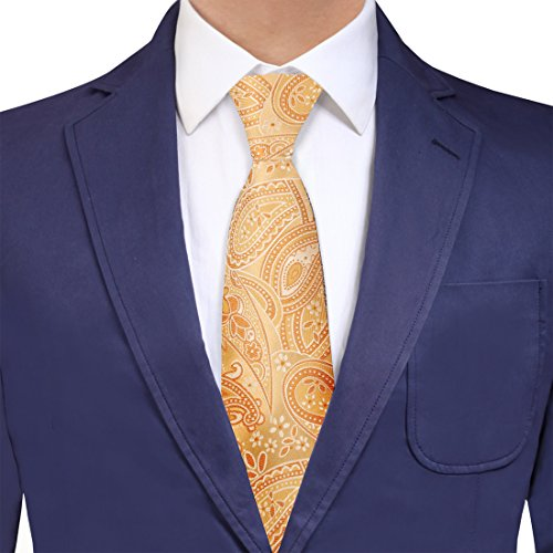 Y&G YAGB0021 Light Yellow Gold Paisley Creative Fashion Woven Jacquard Silk Tie British Gift Giving Long Tie