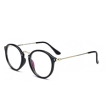 f2ac7fb000 Skitic - Gafas retro aviador redondas unisex, hombre y mujer, decorativas,  lentes transparentes