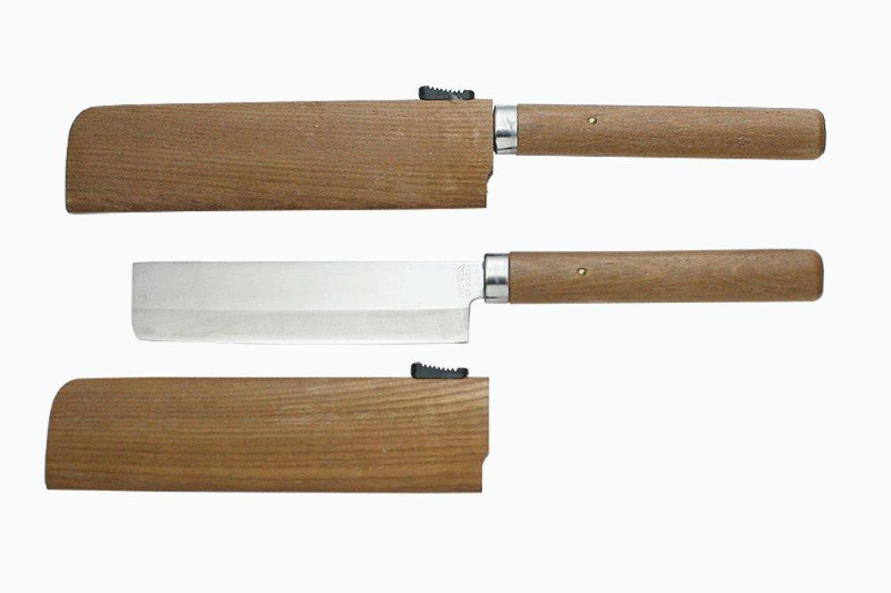 Kanetsune Fruits Knife With VG1 Clad blade (Nakiri) w/ Sheath KC-080