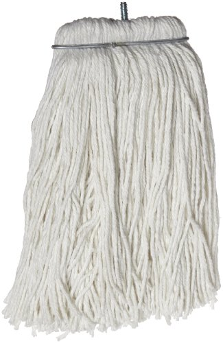 Impact 61116 Layflat Screw-Type Regular Cut-End Rayon Wet Mop Head, 16 oz, White (Case of 12) by Impact Products