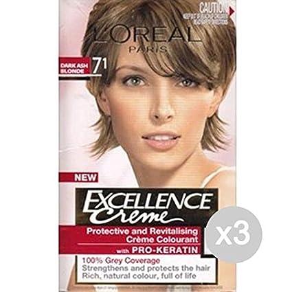 Set 3 Excellence 71 Biondo Cenere Tinta E Colore Per
