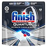 Finish - Quantum - 68ct - Dishwasher Detergent - Powerball - Ultimate Clean & Shine - Dishwashing Tablets - Dish Tabs (4 Pack(68 Count))
