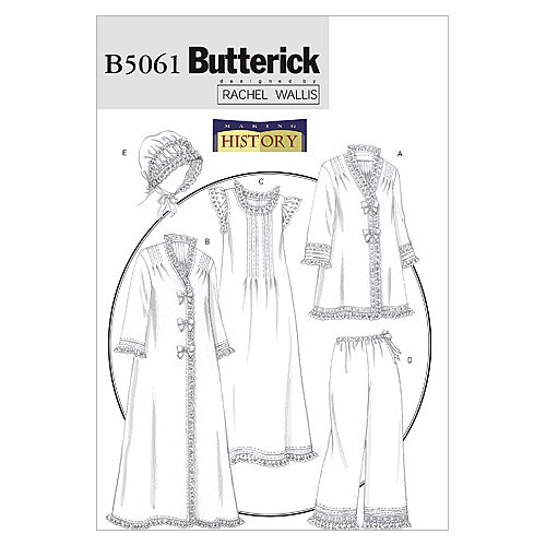 Butterick Patterns B5061 Misses' Jacket, Robe, Nightgown, Pants and Hat, Size Y (XSM-SML-MED)