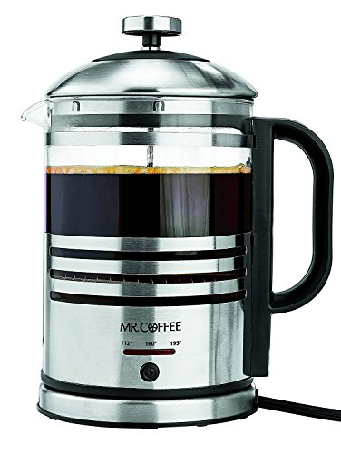 Mr. Coffee Knack + Taste Electric French Press and Hot Water Kettle