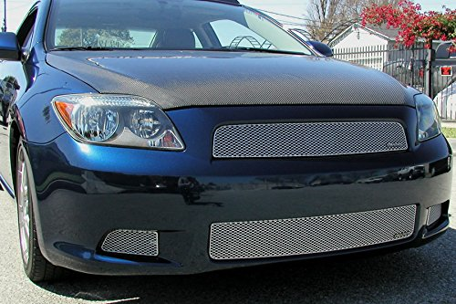 Grillcraft TOY1871S MX Series Silver Lower 1pc Mesh Grill Grille Insert for Scion TC