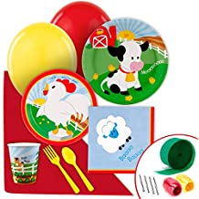 Farm Animal Party Supplies - Value Party Pack