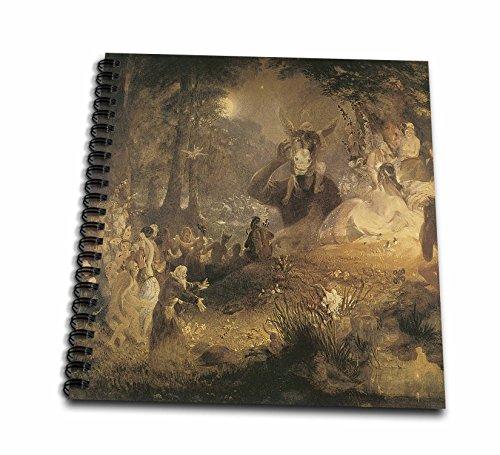 1834 Notebook - 3dRose db_126218_1 A Midsummer Nights Dream John Lamb 1834 Fairy Painting Drawing Book, 8 by 8-Inch
