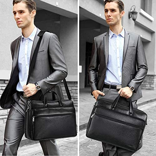 15.6 Inch Laptop Briefcase S-ZONE Mens Messenger Bag Computer Handbag Shoulder Corssbody Bag