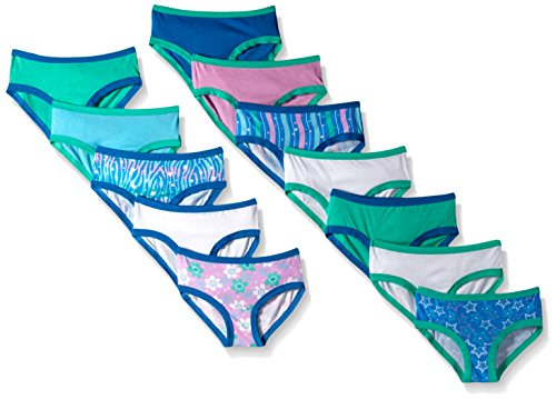 Girls Briefs Bikini (Fruit of the Loom Little Girls'  Hipster , Assorted, 6(Pack of 12))