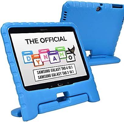 Funda Infantil Cooper Cases (TM) Dynamo para Samsung Galaxy Tab 4 10.1 & 3 10.1 en Azul + Protector de Pantalla gratuito (Ligera, absorción de impactos, Espuma EVA segura para los niños,