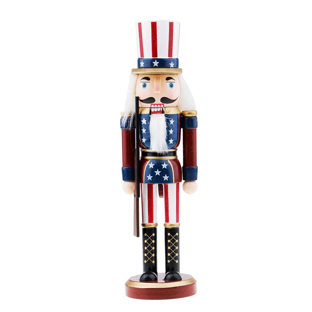 F Fityle Figurine Schiaccianoci Modello Di Legno Ornamenti Di Natale Craft Home - # 1
