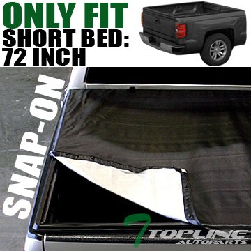 Topline Autopart Snap-On Tonneau Cover 94-03 Chevy S10/Gmc S15 Sonoma Fleetside 6 Ft 72