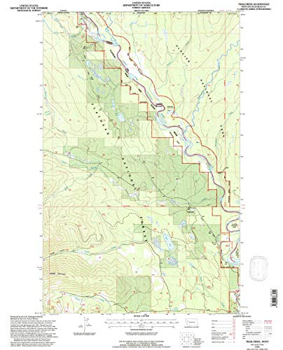 YellowMaps Trailcreek MT topo map, 1:24000 Scale, 7.5 X 7.5 Minute, Historical, 1994, Updated 1997, 26.7 x 21.6 in - Paper]()