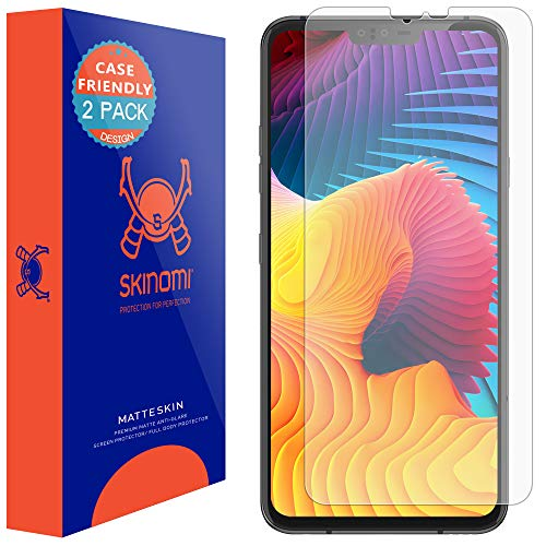 LG V40 ThinQ Screen Protector (Case Compatible)(2-Pack), Skinomi MatteSkin Full Coverage Screen Protector for LG V40 ThinQ Anti-Glare and Bubble-Free Shield