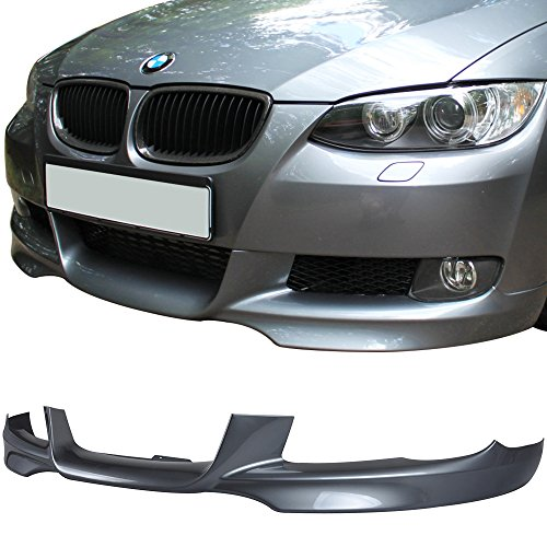 - Pre-painted Front Bumper Lip Fits 2007-2010 BMW E92 E93 3 Series | M-Tech Style Painted Space Gray Metallic #A52 PP Air Dam Chin Protector Front Bumper Lip other color available by IKON MOTORSPORTS