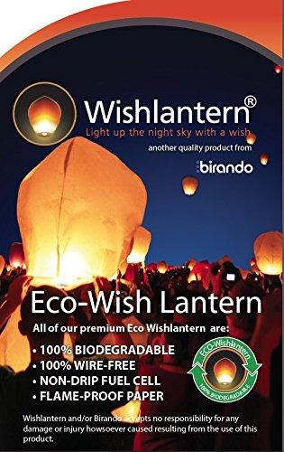 Eco White Wish Lanterns (Pack of 5) - The Original Sky -