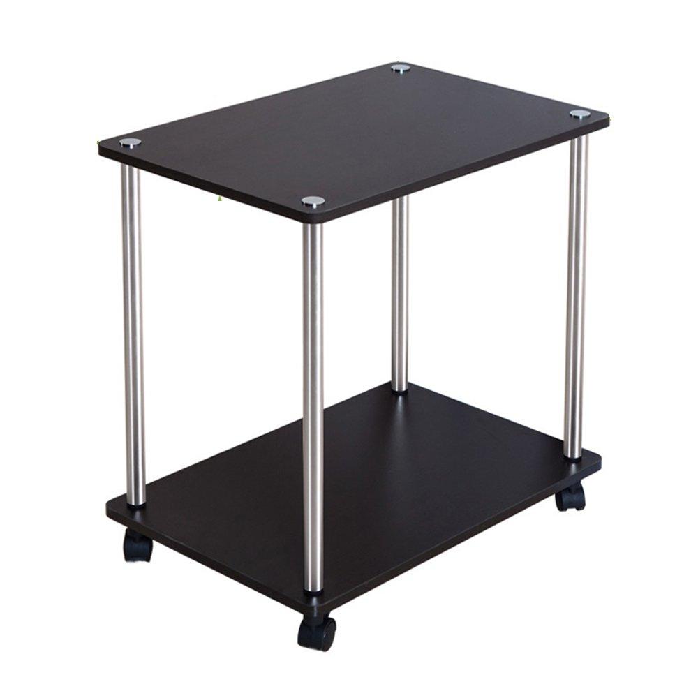 FEIFEI モバイルコーヒーテーブル2層マルチファンクションサイドテーブルストレージラックスナックテーブルソファサイドテーブルモバイルトロリー (色 : B) B07F8GCF3W B B