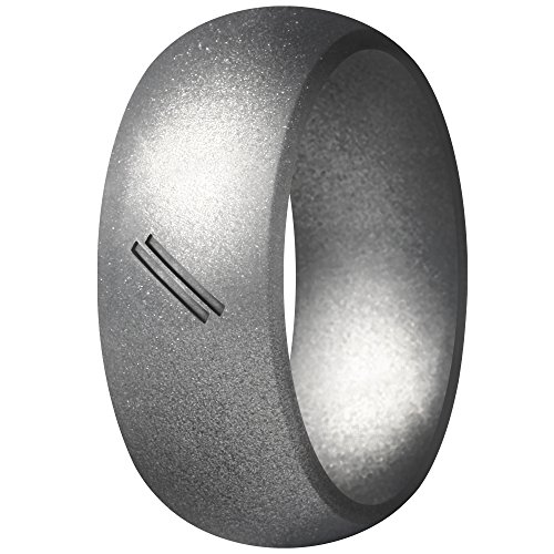 ThunderFit Silicone Wedding Ring for Men, Rubber Wedding Band (Polished Brass, 12.5-13 ()