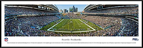 Seattle Seahawks  End Zone At Centurylink Field   Panoramic Print