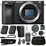 Sony Alpha a6500 Mirrorless Digital Camera (Body Only) With Sony NP-FW50 Battery, Spare FW50 Battery, 64gb SDXC 1200x Card, Card Reader, Carrying case, AC Adapter Bundle Kit - International Version