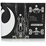 Bioworld Men's Star Wars Rogue One Death Star Bi-fold Wallet, black, One Size