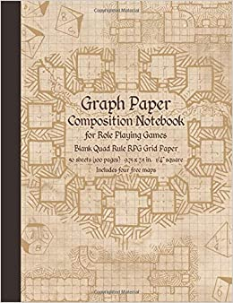 5e209e35142d Graph Paper Composition Notebook for Role Playing Games  Blank Quad Rule  RPG Grid Paper (Dungeon Map RPG Game Series)  Crit Masters  9781719846615   ...