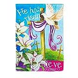Cheap He Has Risen Believe Easter House Flag