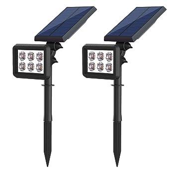3d6812cb8d0e8f Lampe Solaire Extérieur,Eclairage Exterieur Solaire Etanche 500 Lumens,6  LED Lampes Solaires Jardin