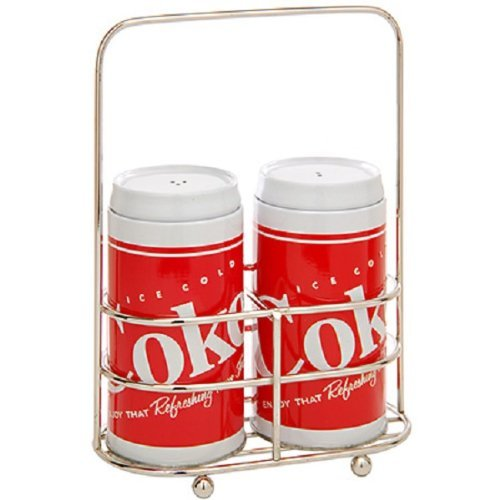 Coca Cola - Red & White Tin Salt & Pepper Shakers