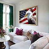 TINMI ARTS-DIY Diamond Painting Eagle Flag Full