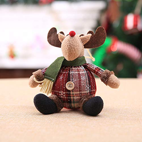 Hot Sale!DEESEE(TM)Christmas Ornaments Gift Santa Claus Snowman Tree Toy Doll Hang Decorations -