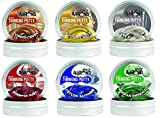 Crazy Aaron Thinking Putty Copper Gold Platinum Ruby Sapphire Emerald 3'' 6 Pack