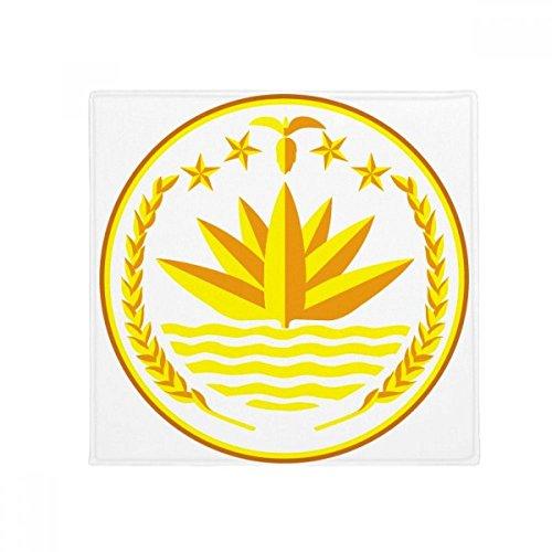 Dhaka Bangladesh National Emblem Anti-slip Floor Pet Mat Square Home Kitchen Door 80cm Gift