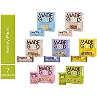 MadeGood Healthy Snacks Variety Pack - 7 Box Mix of Granola Bars, Granola Mini Snack Packs, Crispy Squares; 38 Individual Items Including Chocolate, Vanilla & Fruit Flavors; Vegan and Gluten Free