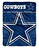 """The Northwest Company Officially Licensed NFL Dallas Cowboys Livin Large Micro Raschel Throw Blanket, 46"""" x 60"""""""