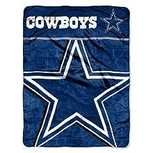 NFL Dallas Cowboys Micro Raschel Throw Blanket, 46 x 60-Inch