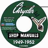 1949 1950 1951 1952 CHRYSLER & IMPERIAL REPAIR SHOP & SERVICE MANUAL & BODY MANUAL CD INCUDES: Royal, Windsor, De Luxe, New Yorker, Saratoga, Imperial, Crown Imperial, C-45, C-46, C-47, C-48, C-49, C-50, C-51, C-52, C-53, C-54, and C-55