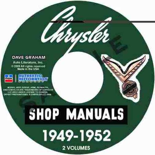 1949 1950 1951 1952 chrysler \u0026 imperial repair shop \u0026 service manual Ford Wiring Schematics