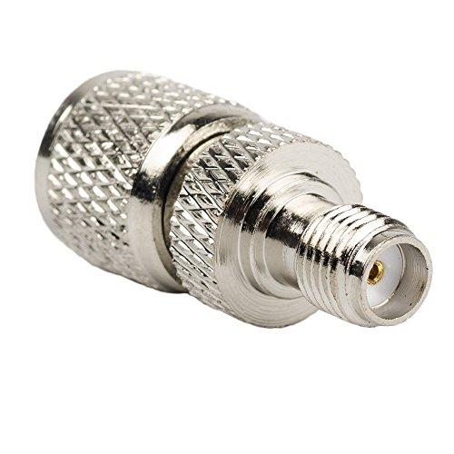(DHT Electronics RF coaxial coax adapter SMA female to MINI-UHF male connector)