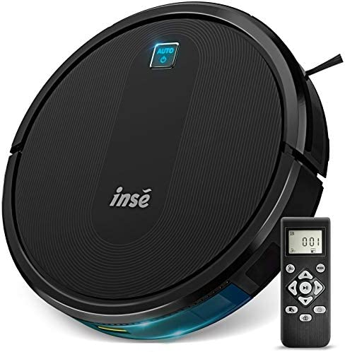 INSE E6 Robot Vacuum Cleaner, Upgraded Brushless Motor, Super Powerful Suction 2000Pa, Ultra Slim, Quiet, Self Charging Robotic Vacuum, 120min Max Runtime, Perfect for Pet Hair, Carpets, Hard Floors