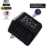 [UPGRADED VERSION]Fuvision 16GB WiFi Hidden Spy Camera 1080P Internet Streaming AC Power Adapter 5.0 Mega Live Stream iOS-Android App Based USB Power Charger Hidden Camera