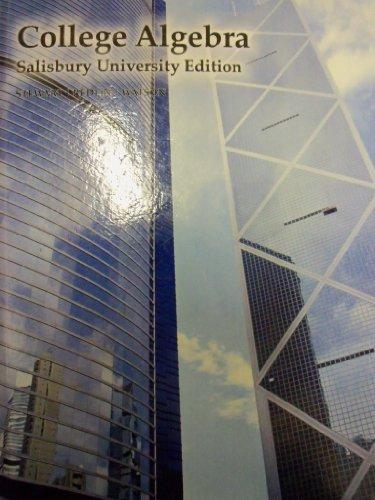 College Algebra; 6e (Salisbury University)