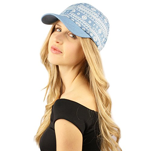 Aztec Tribal Summer Cool Cotton Baseball Cap Hat Adjustable Dance Party Denim (Cool Summer Hats compare prices)