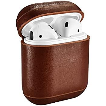Amazon.com: elago AirPods Leather Case [Brown
